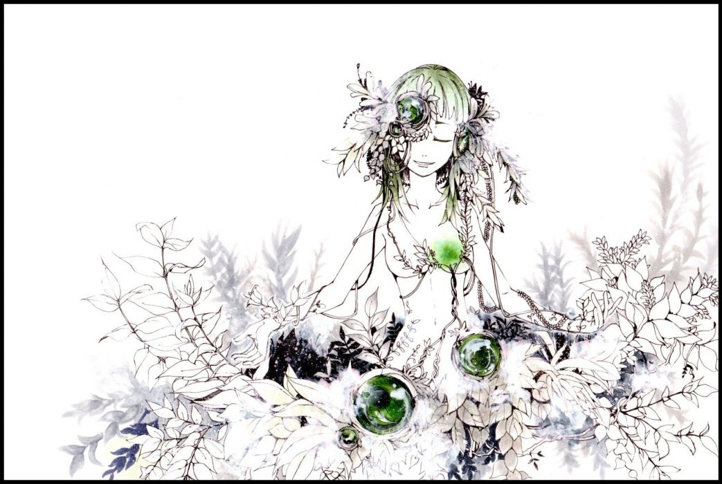 nature Vocaloid dress flowers smiling closed eyes Megpoid Gumi anime girls wallpaper