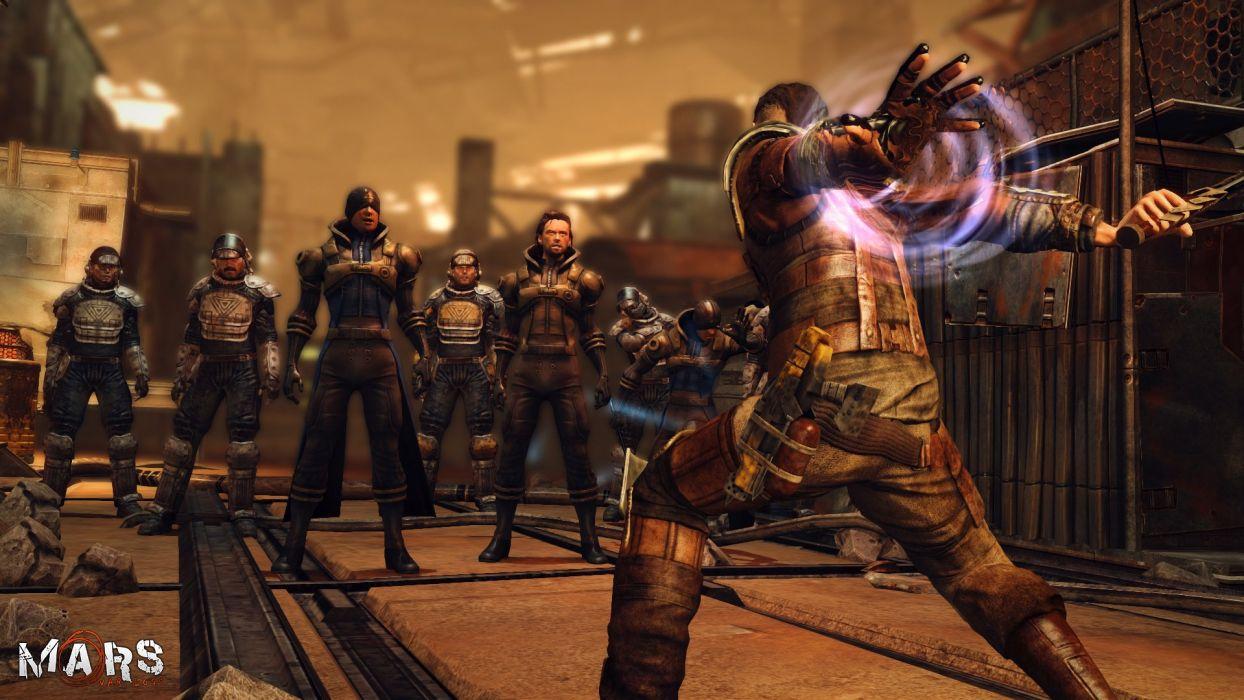 MARS WAR LOGS sci-fi cyberpunk futuristic warrior battle wallpaper