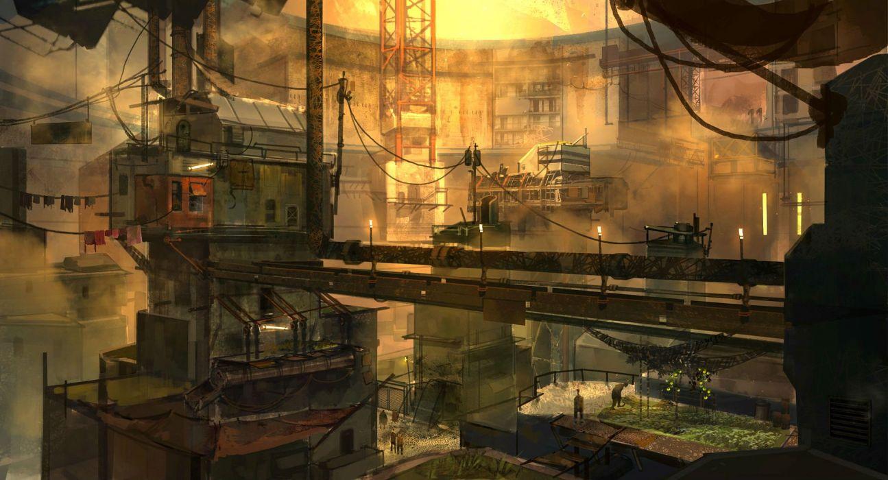MARS WAR LOGS sci-fi cyberpunk futuristic city wallpaper