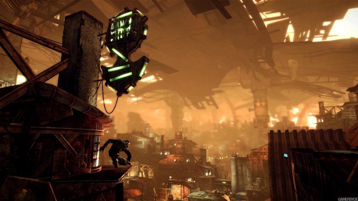 MARS WAR LOGS sci-fi cyberpunk futuristic wallpaper