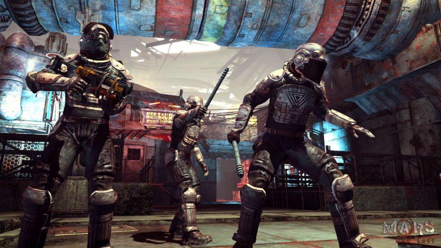 MARS WAR LOGS sci-fi cyberpunk futuristic warrior weapon wallpaper