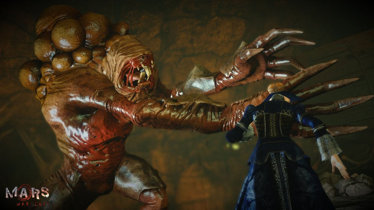 MARS WAR LOGS sci-fi cyberpunk futuristic monster warrior battle wallpaper