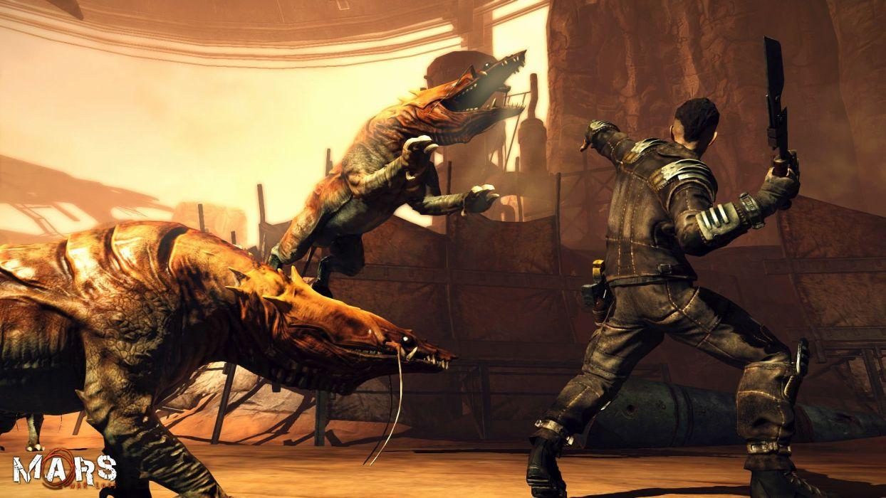 MARS WAR LOGS sci-fi cyberpunk futuristic warrior battle monster wallpaper
