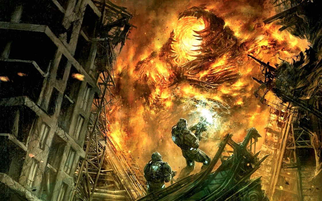 HELLGATE LONDON fantasy action sci-fi fire apocalyptic demon monster wallpaper