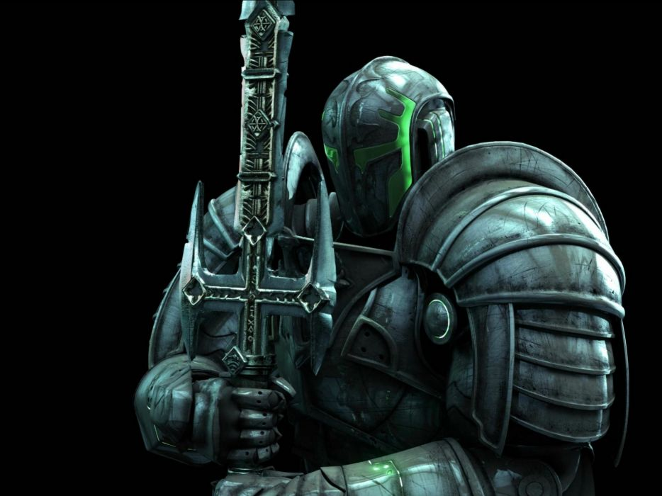 HELLGATE LONDON fantasy action sci-fi warrior knight armor weapon sword wallpaper