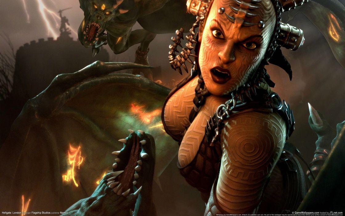 HELLGATE LONDON fantasy action sci-fi warrior wallpaper