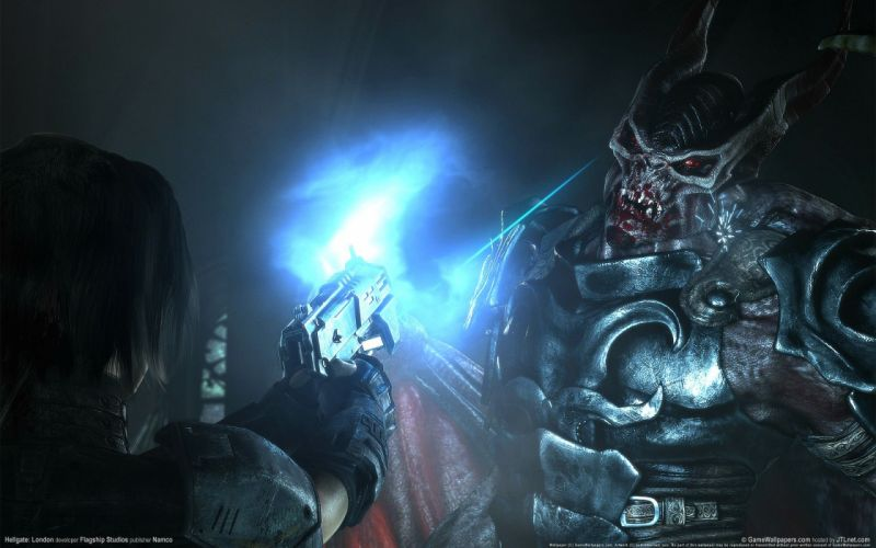 HELLGATE LONDON fantasy action sci-fi warrior monster weapon gun battle wallpaper