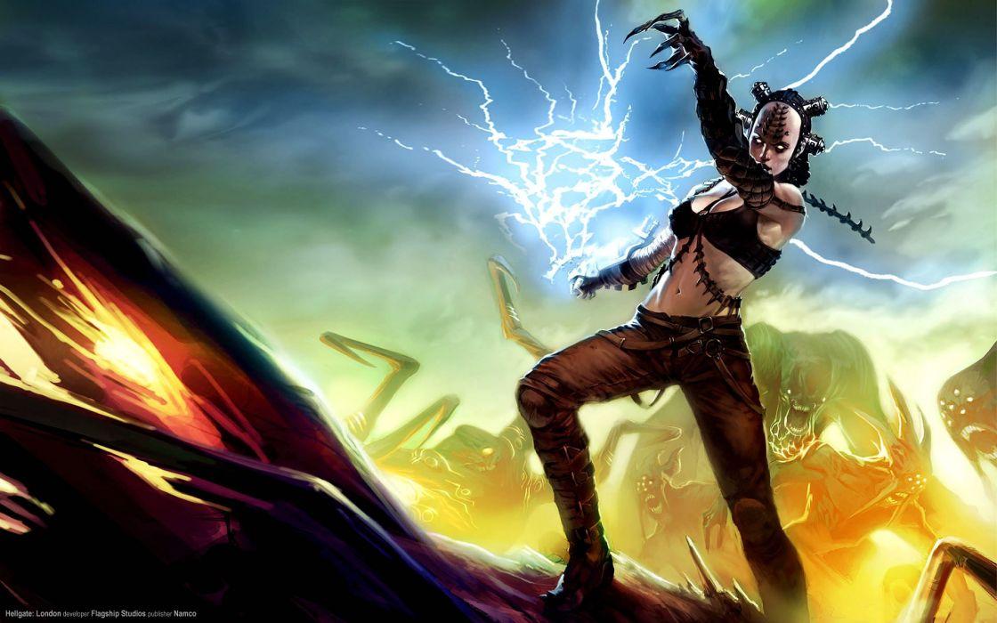 HELLGATE LONDON fantasy action sci-fi warrior magic battle wallpaper