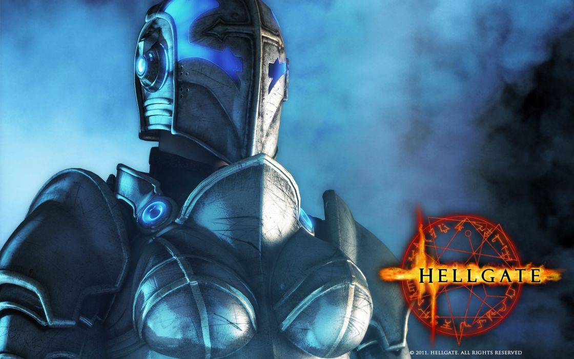 HELLGATE LONDON fantasy action sci-fi warrior armor knight poster wallpaper