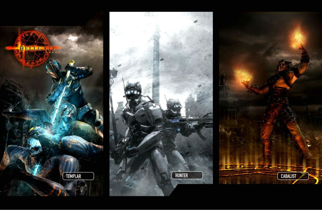 HELLGATE LONDON fantasy action sci-fi poster wallpaper