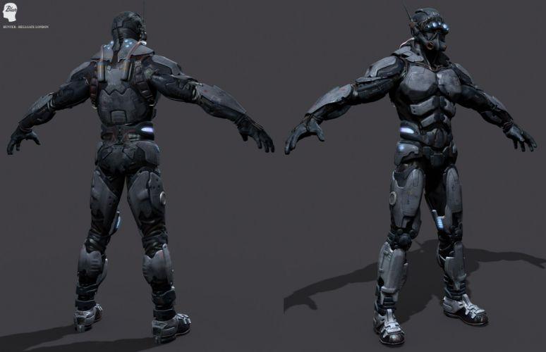 HELLGATE LONDON fantasy action sci-fi warrior armor wallpaper