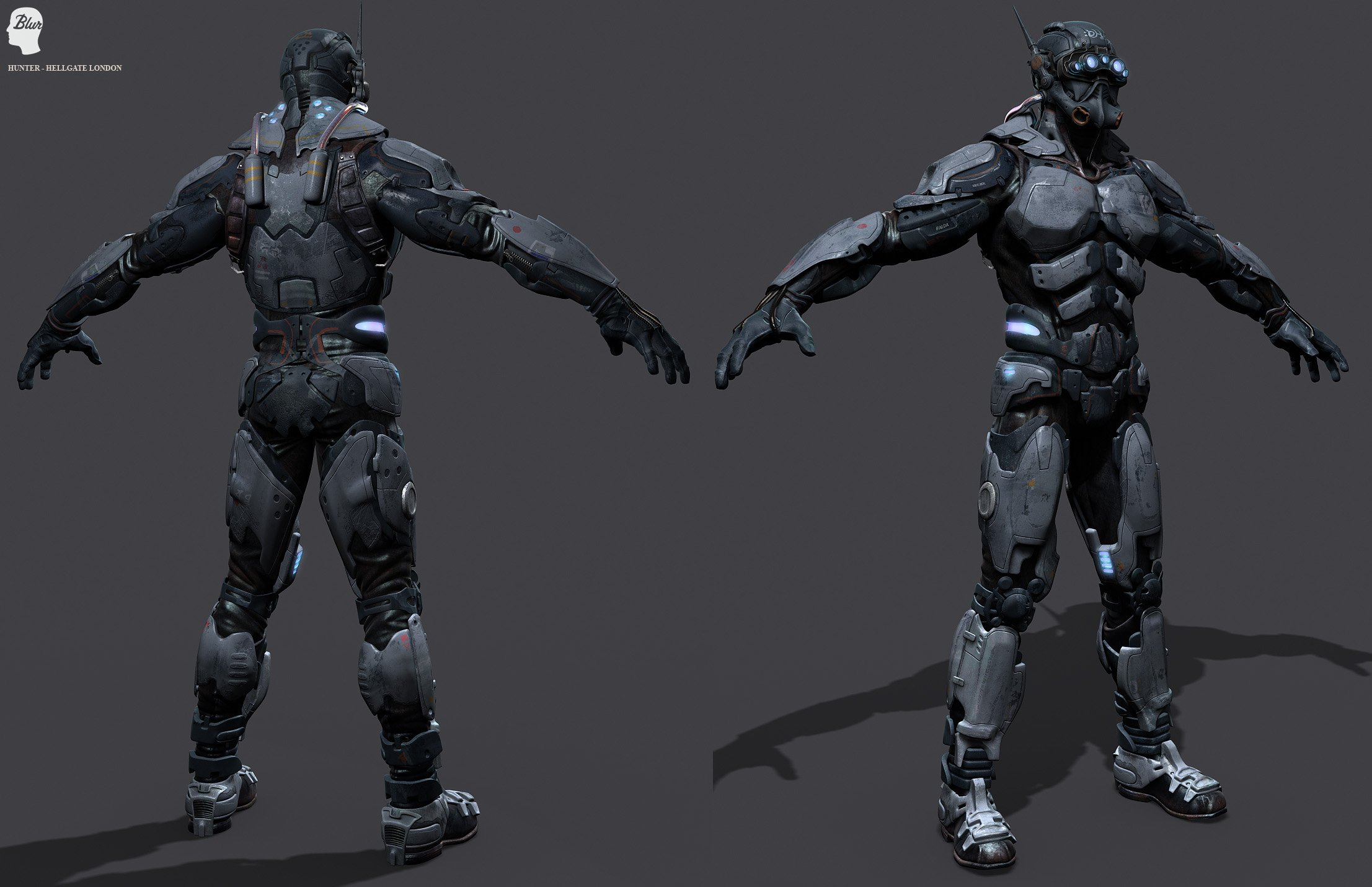 Hellgate London Fantasy Action Sci Fi Warrior Armor Wallpaper