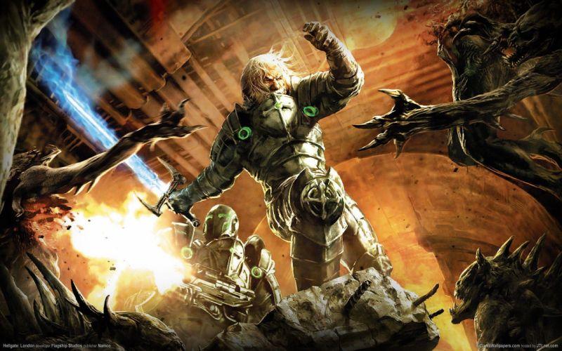 HELLGATE LONDON fantasy action sci-fi warrior battle monster wallpaper
