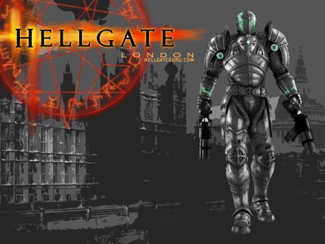HELLGATE LONDON fantasy action sci-fi poster warrior armor wallpaper