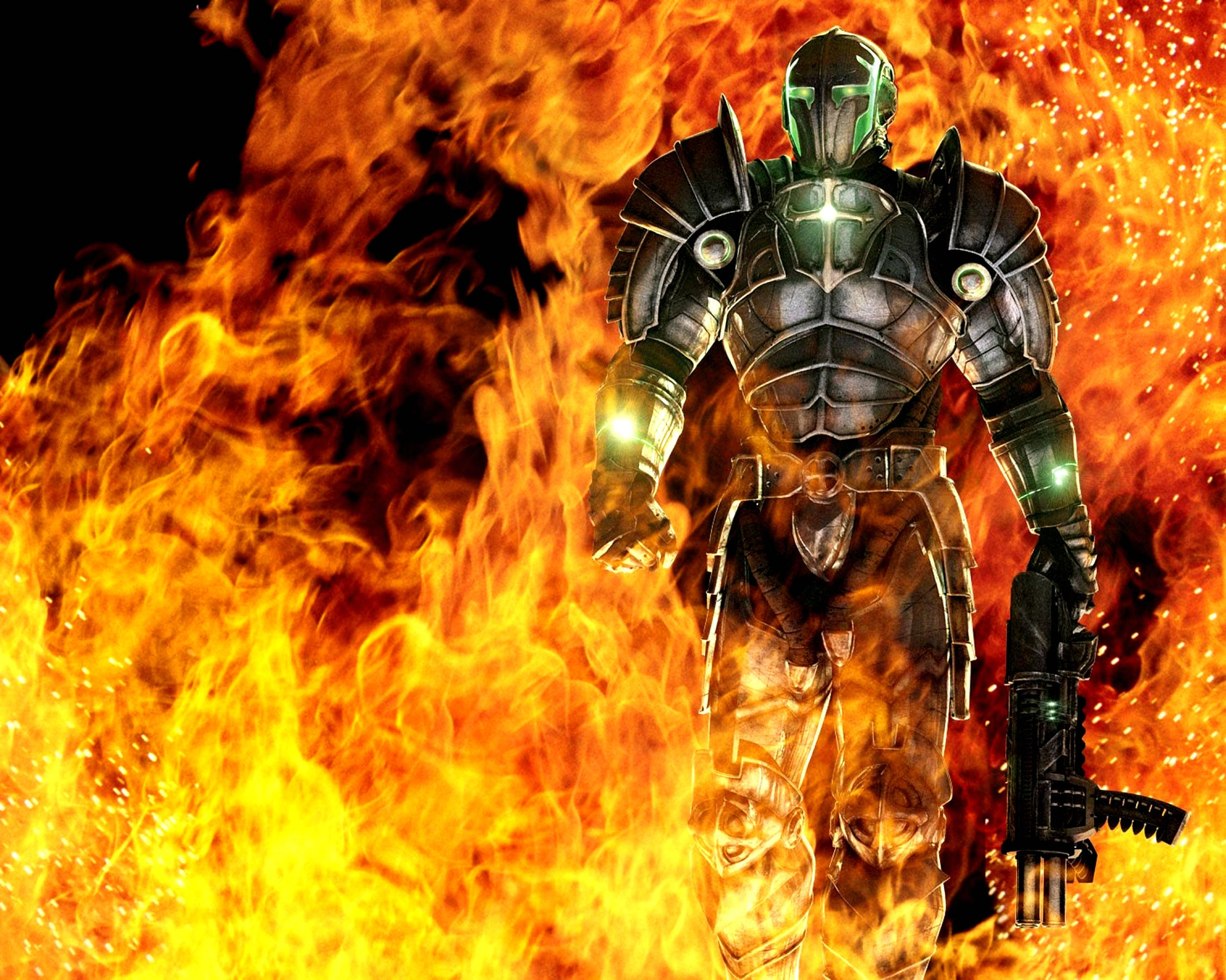 HELLGATE LONDON fantasy action sci-fi warrior fire weapon ...