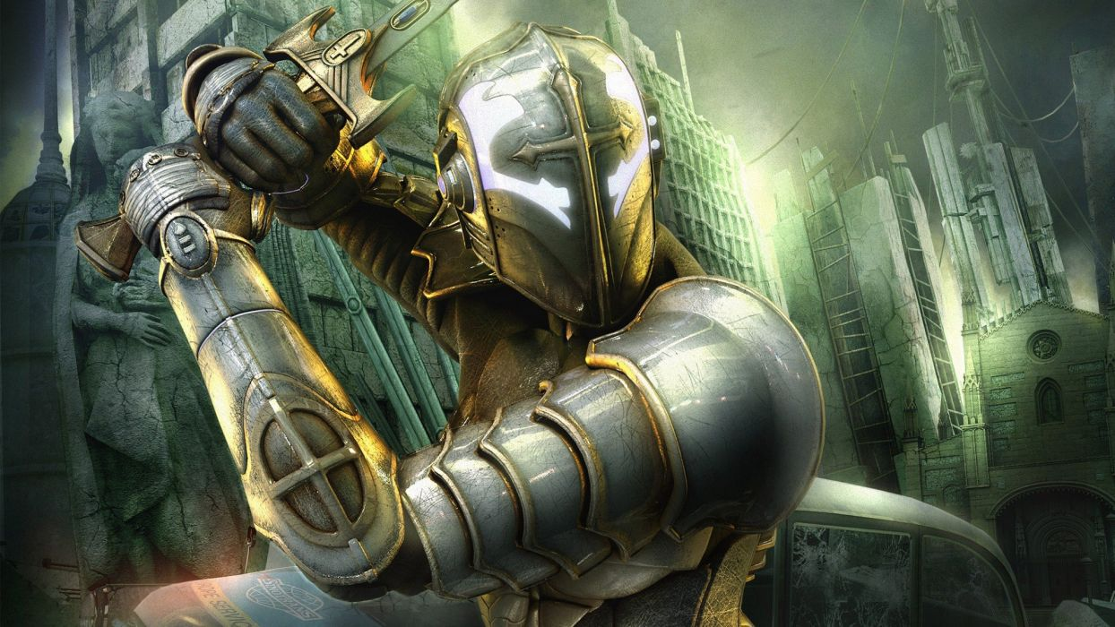 HELLGATE LONDON fantasy action sci-fi warrior knight armor wallpaper