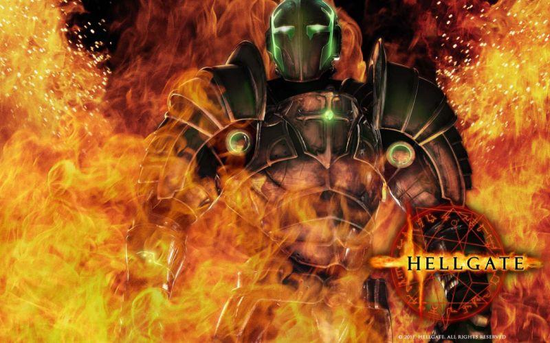 HELLGATE LONDON fantasy action sci-fi warrior armor fire wallpaper