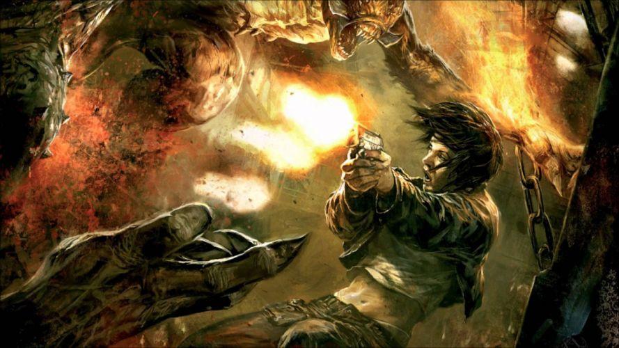 HELLGATE LONDON fantasy action sci-fi warrior battle weapon gun monster wallpaper