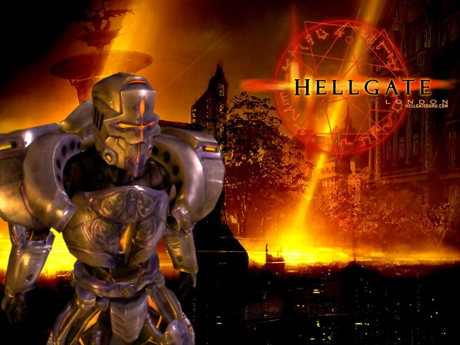 HELLGATE LONDON fantasy action sci-fi poster warrior armor wallpaper