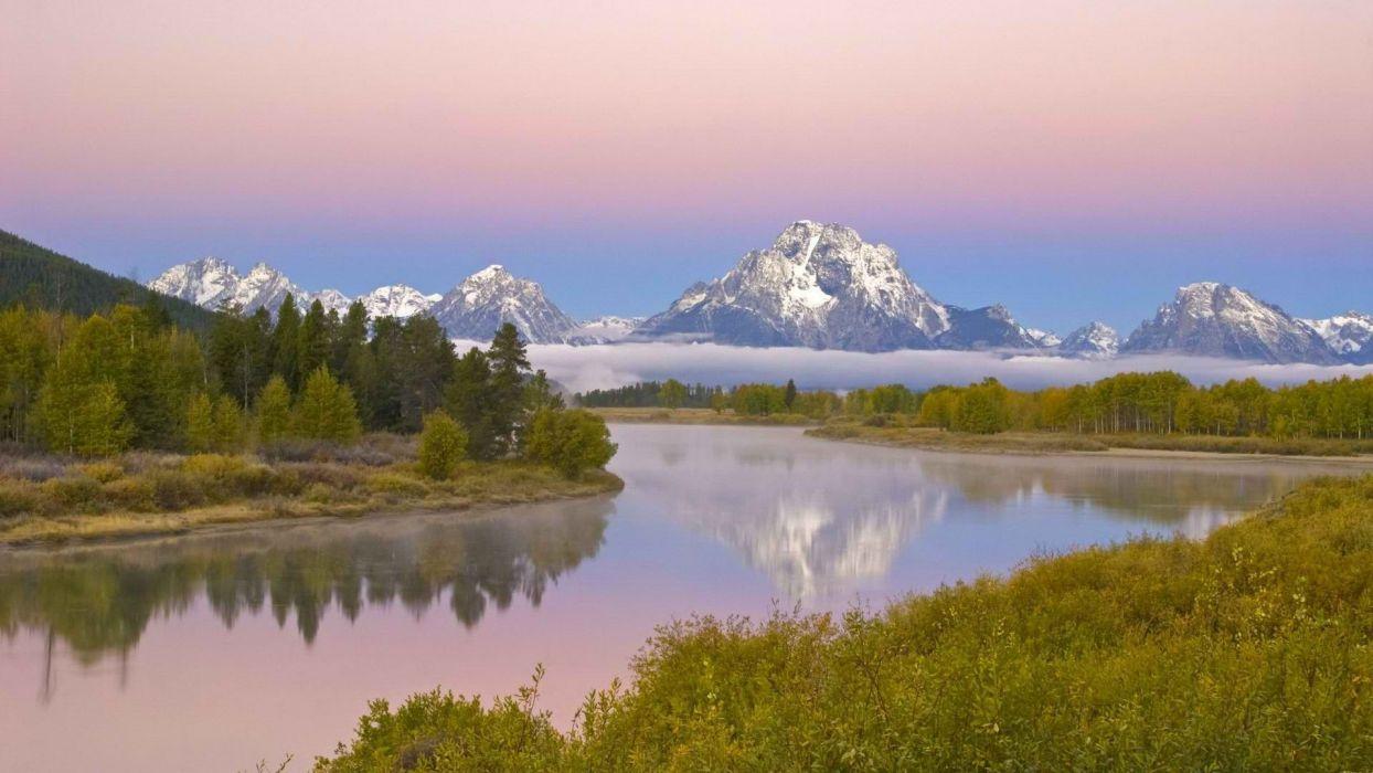 Wyoming Grand Teton National Park rivers National Park Mount wallpaper