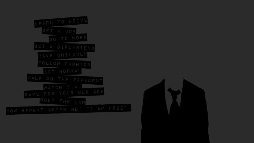 Anonymous text wallpaper