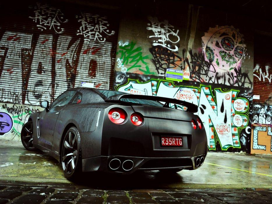 wall cars graffiti Nissan matte Nissan GTR wallpaper