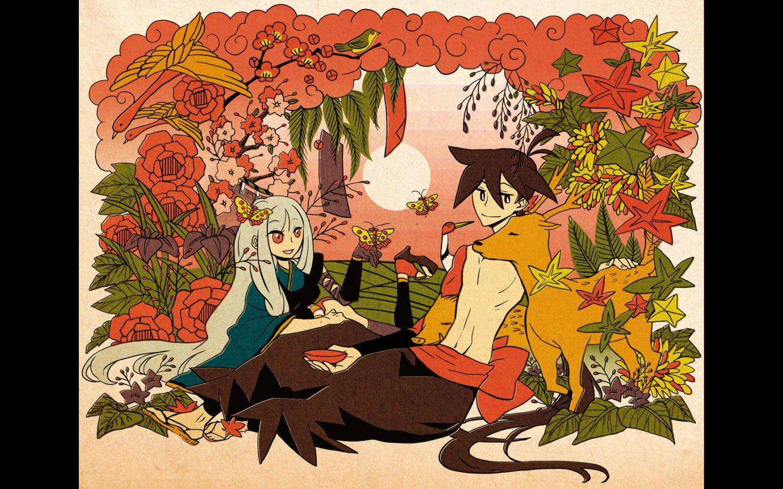 Katanagatari Yasuri Shichika Togame Wallpaper 1440x900 286234 Wallpaperup