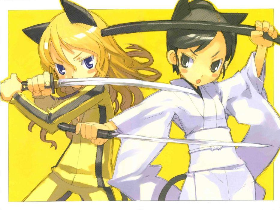 Kill Bill anime girls wallpaper