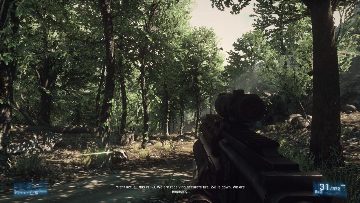 trees screenshots Battlefield 3 wallpaper