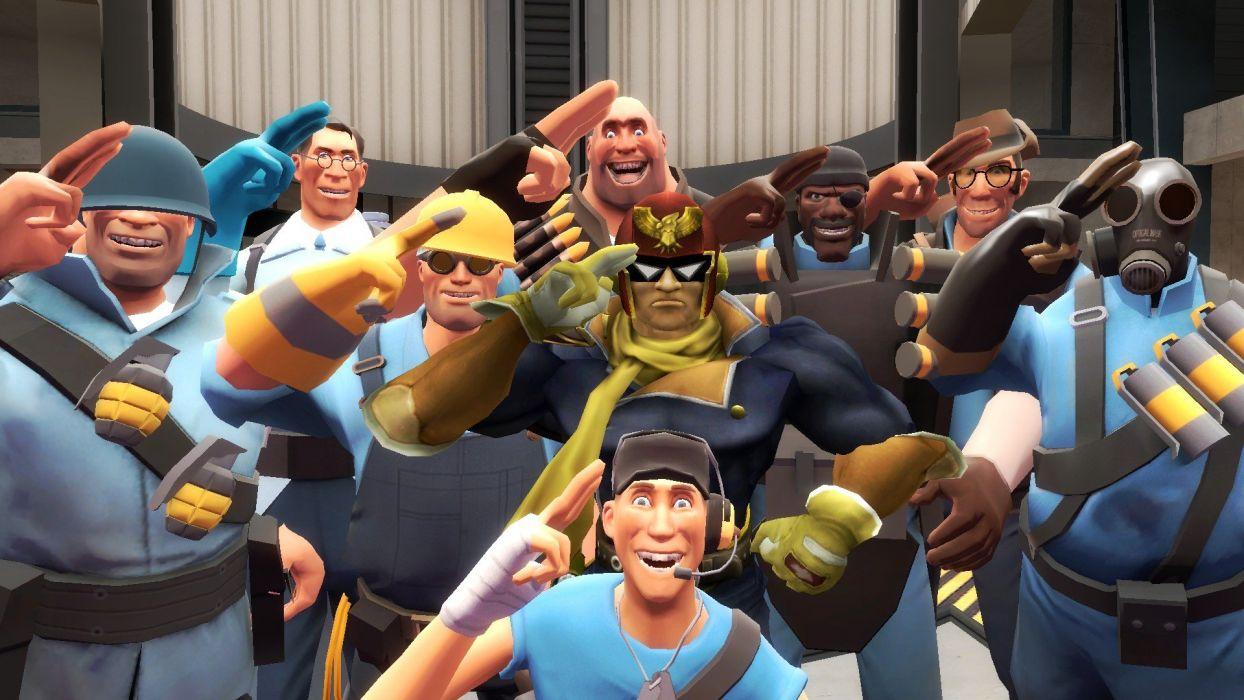 Team Fortress 2 Captain Falcon wallpaper