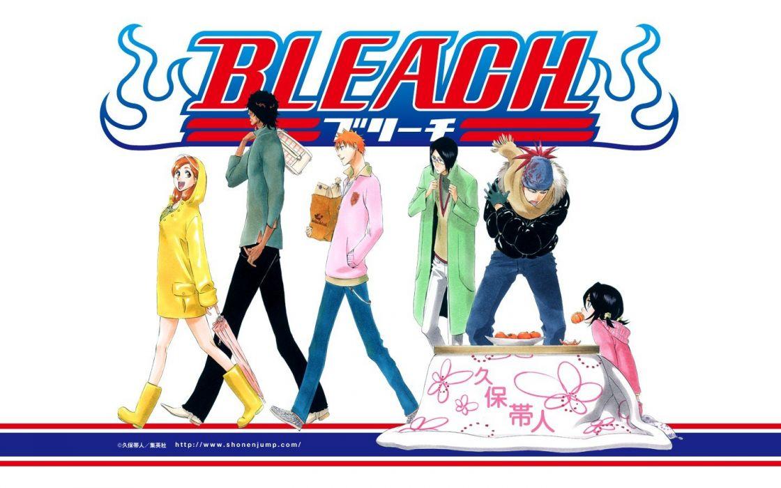 Bleach Kurosaki Ichigo Inoue Orihime Kuchiki Rukia Abarai Renji Yasutora Sado Ishida Uryuu wallpaper