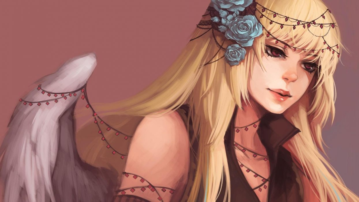 blondes women sad fantasy art artwork wallpaper