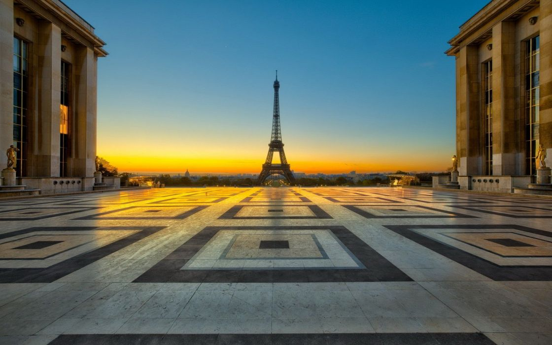 Eiffel Tower Paris cityscapes squares cities wallpaper