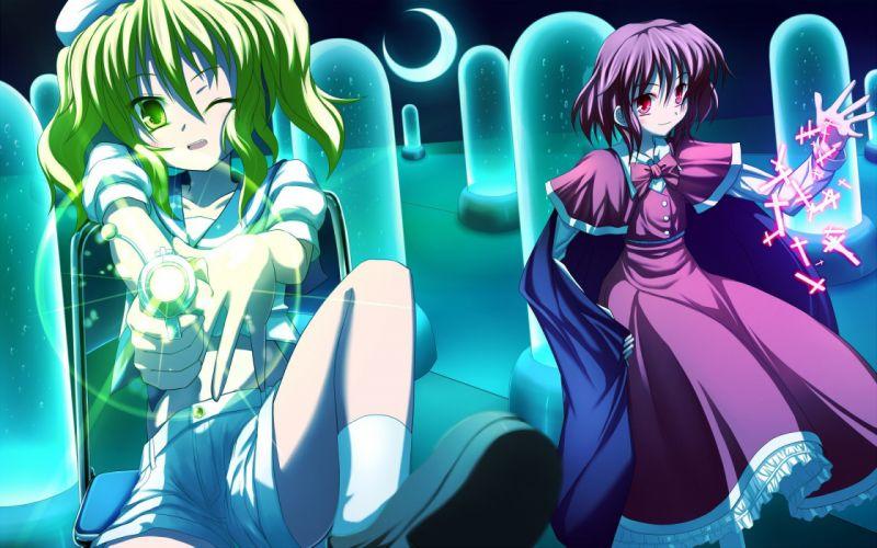 Touhou magic Okazaki Yumemi anime girls Kitashirakawa Chiyuri wallpaper