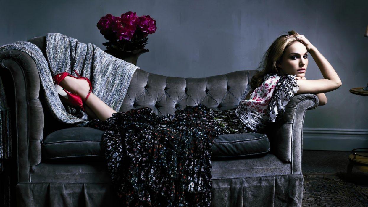 brunettes women dress Natalie Portman celebrity brown eyes high heels TagNotAllowedTooSubjective wallpaper