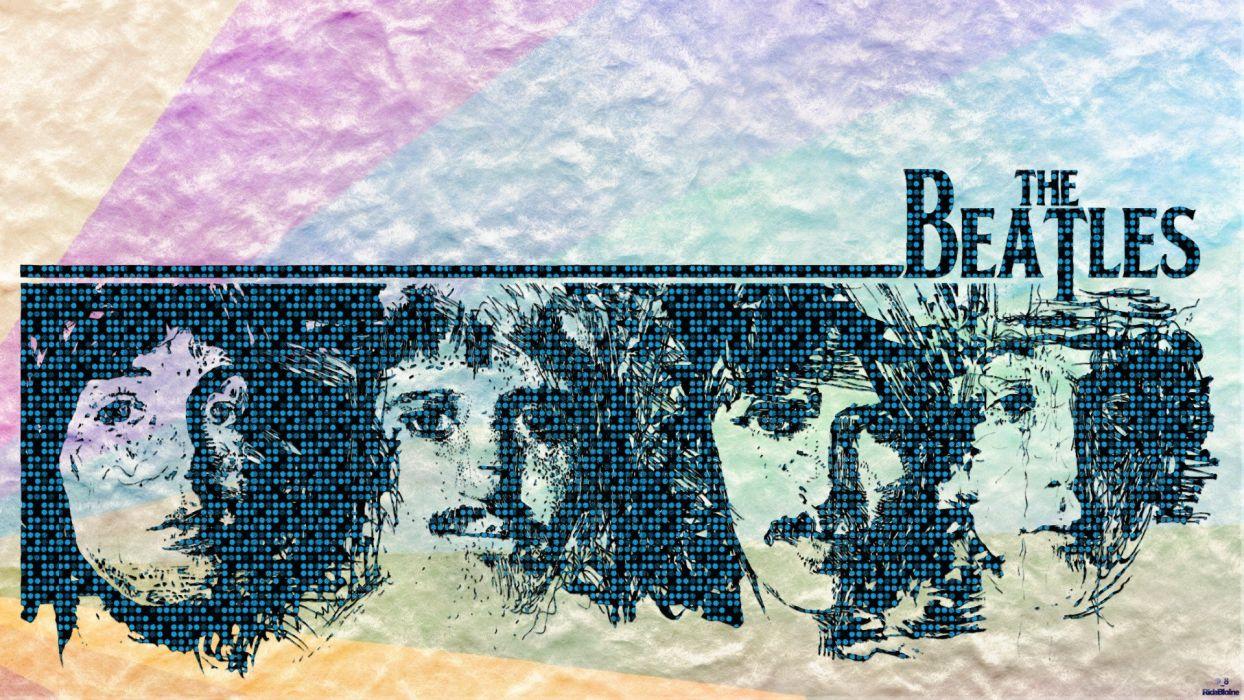 music pop The Beatles Rock music digital art artwork fan art Rock Band wallpaper