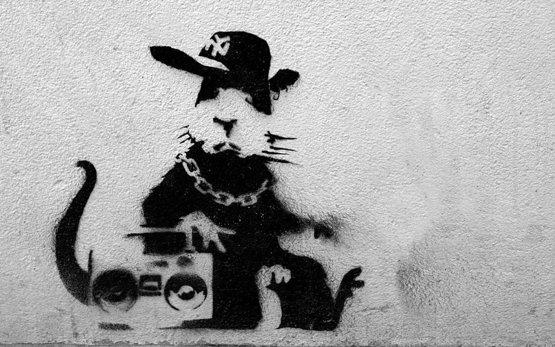 Banksy rats wallpaper