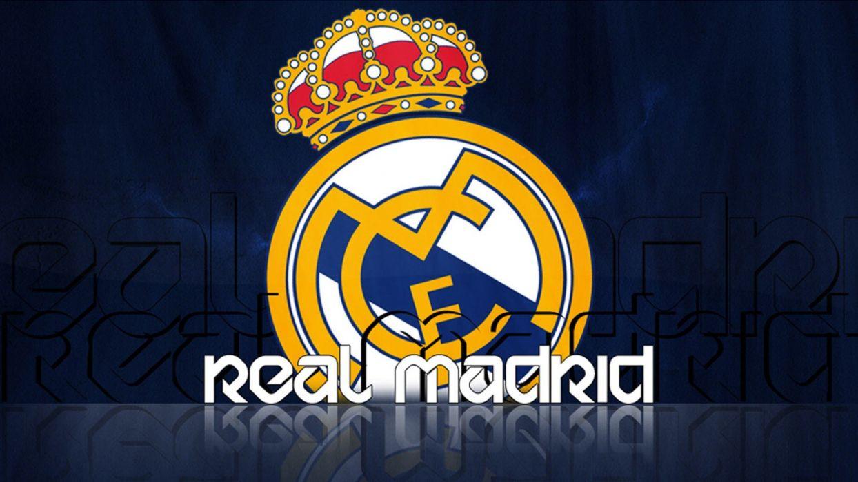 sports soccer Real Madrid football teams Football Logos wallpaper