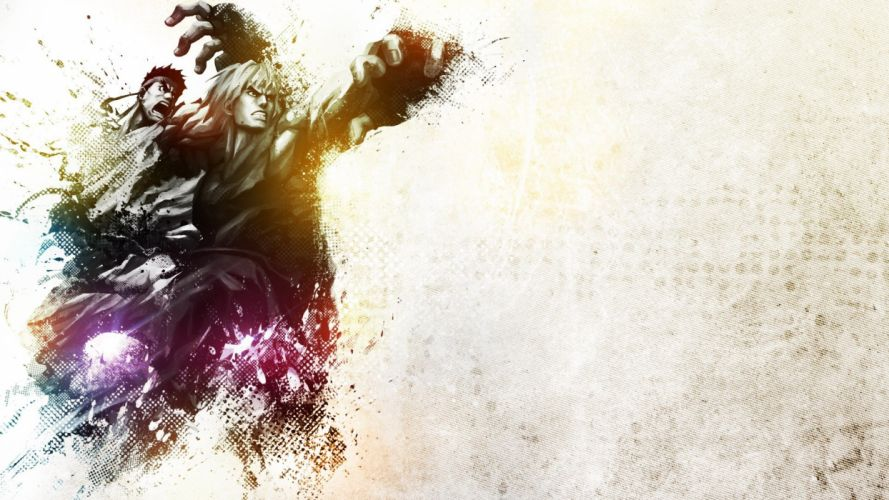 Street Fighter Ryu Ken color splash wallpaper