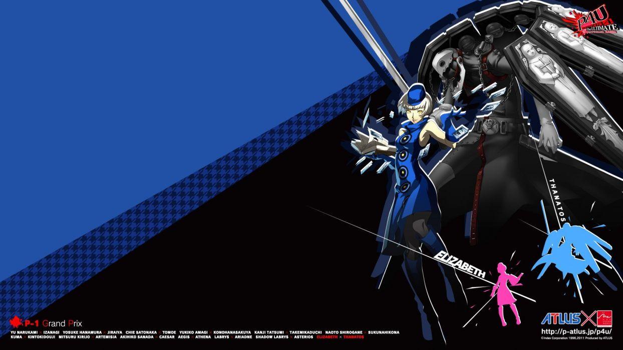 video games Persona series Persona 4 Persona 3 Thanatos Elizabeth (Persona 3) wallpaper