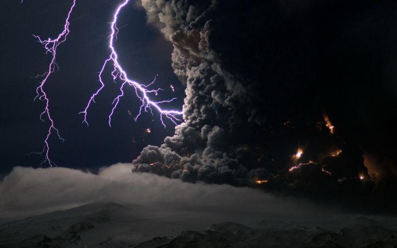 volcanoes storm wallpaper
