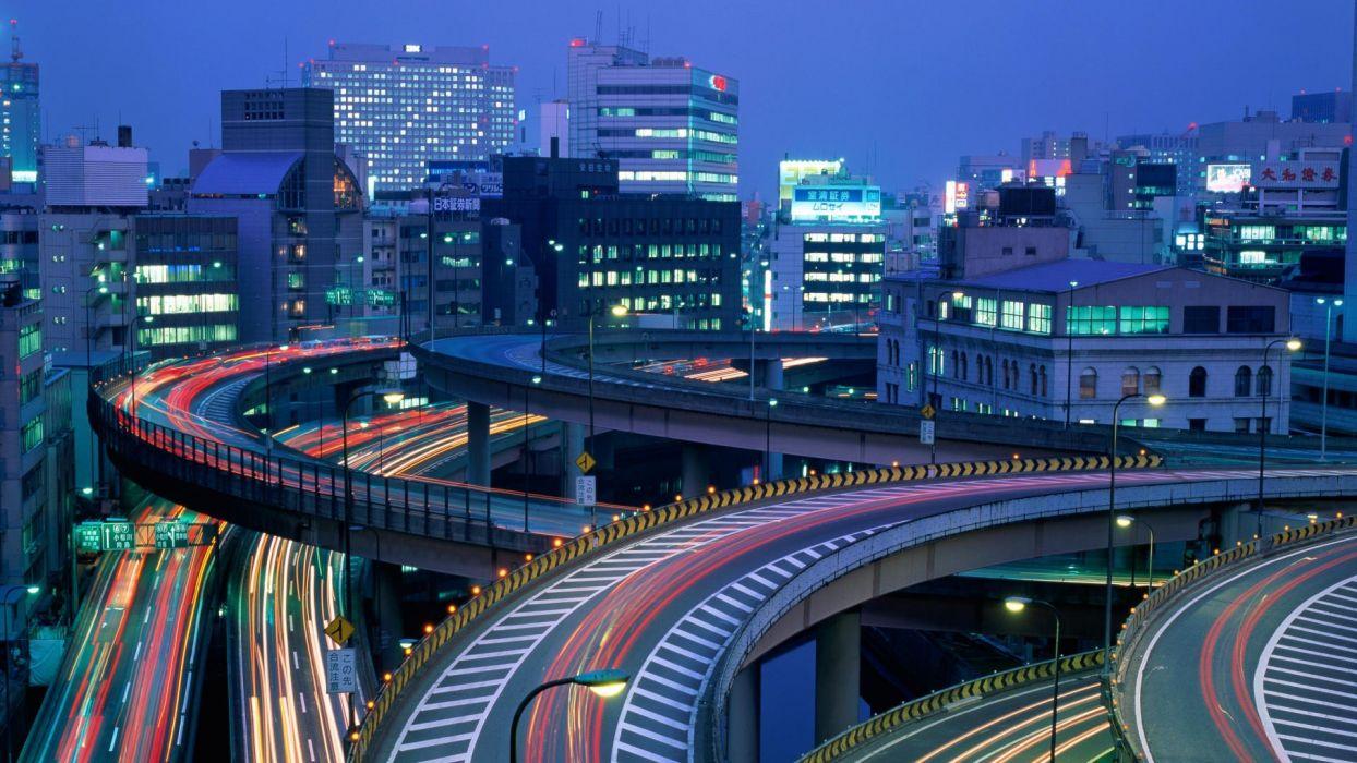 Japan Tokyo night travel duplicate wallpaper
