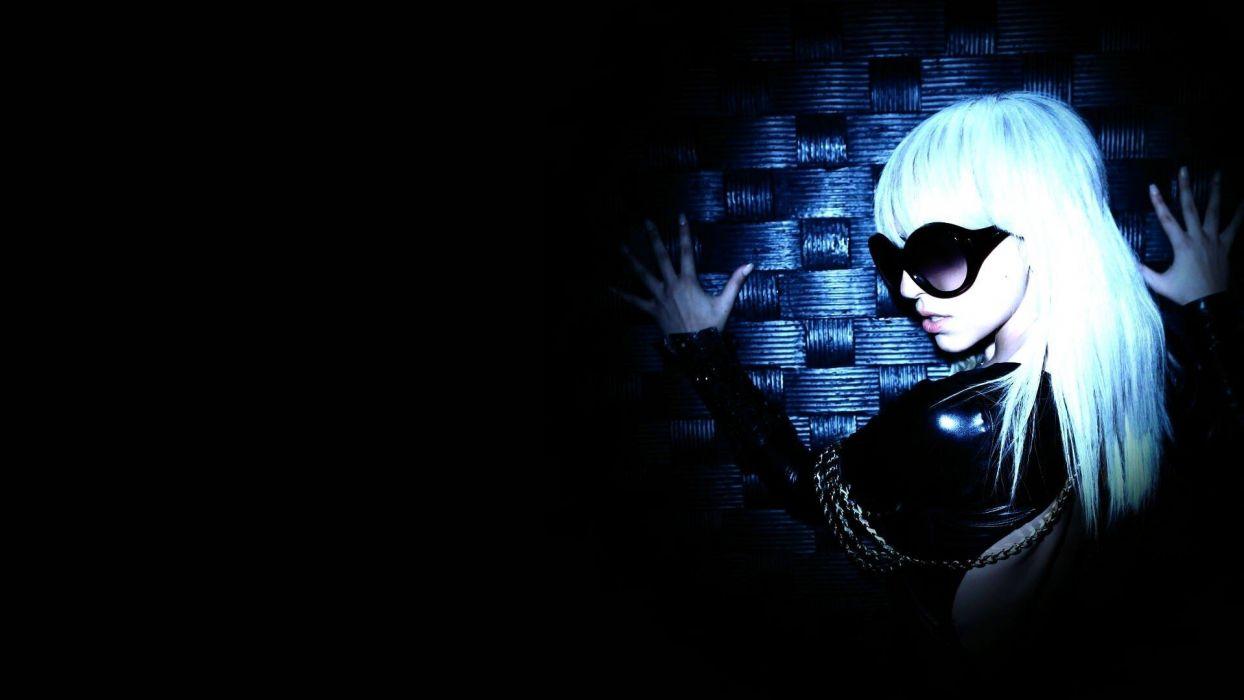 blondes women Lady Gaga singers black background wallpaper