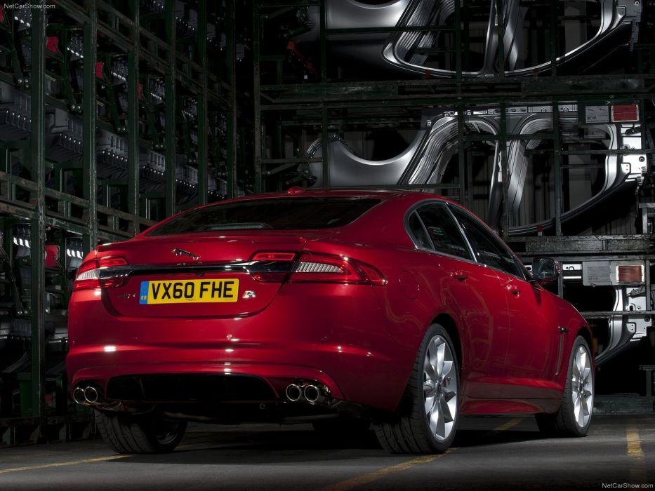 red cars Jaguar XFR wallpaper