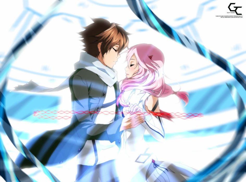 anime anime boys anime girls Guilty Crown Ouma Shu Yuzuriha Inori wallpaper