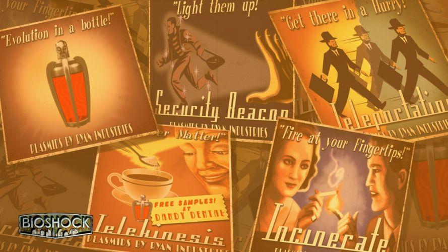 video games BioShock plasmid wallpaper
