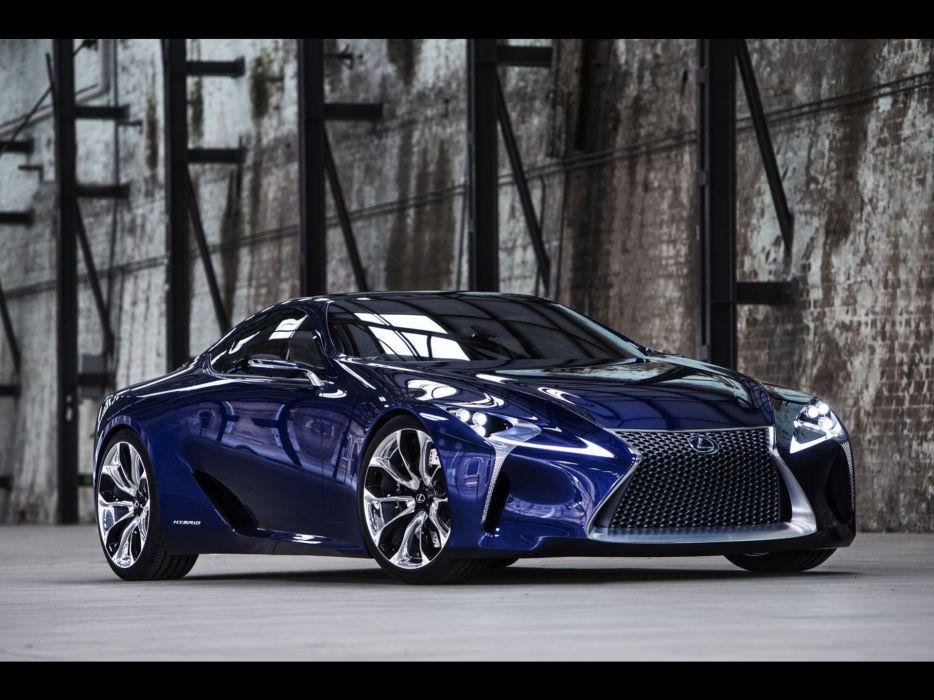 blue Lexus concept cars static Lexus LF-LC wallpaper