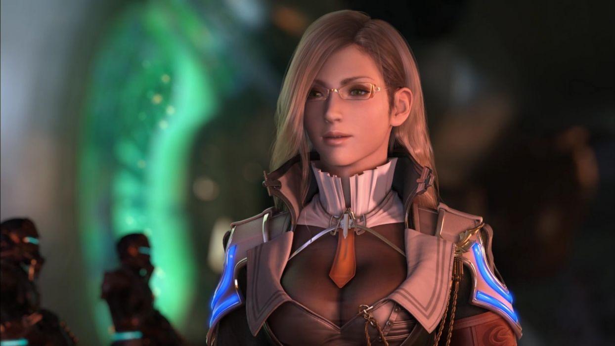 women video games CGI glasses Final Fantasy XIII Jihl Nabaat wallpaper