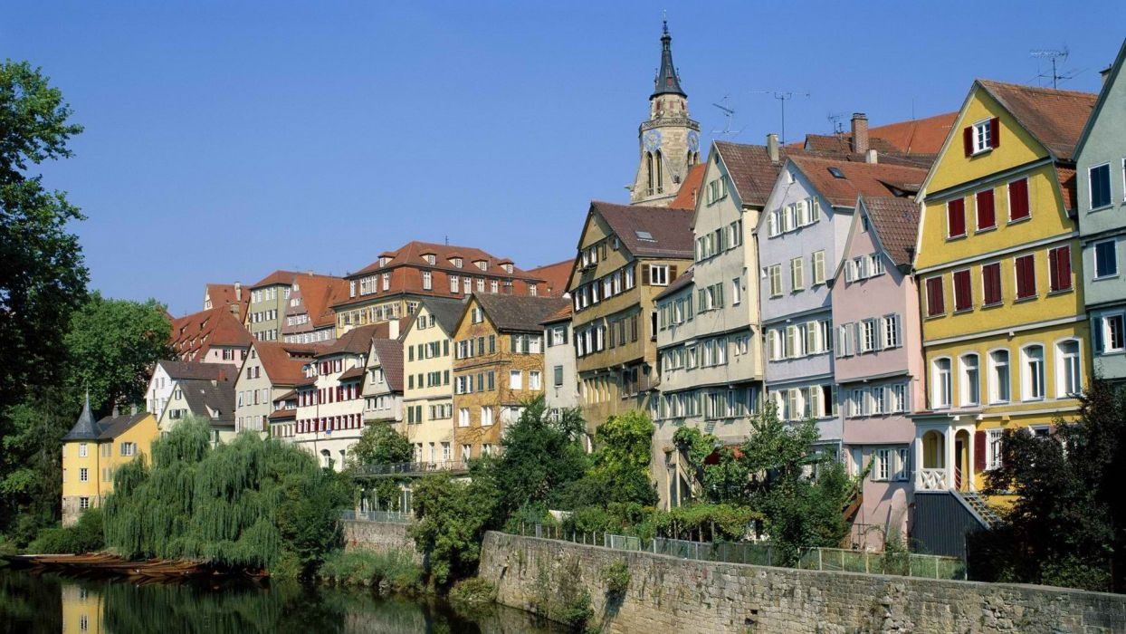 Germany rivers town view wallpaper