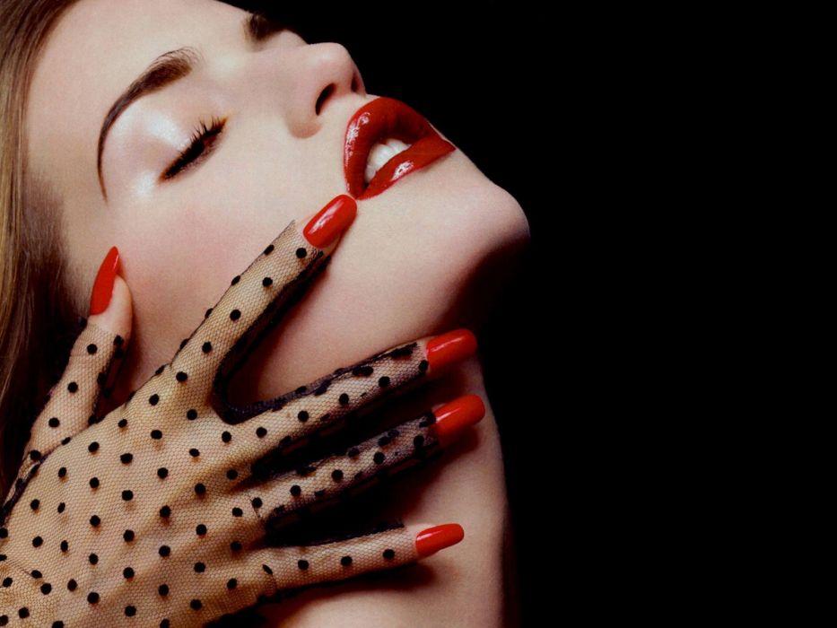women nails faces wallpaper